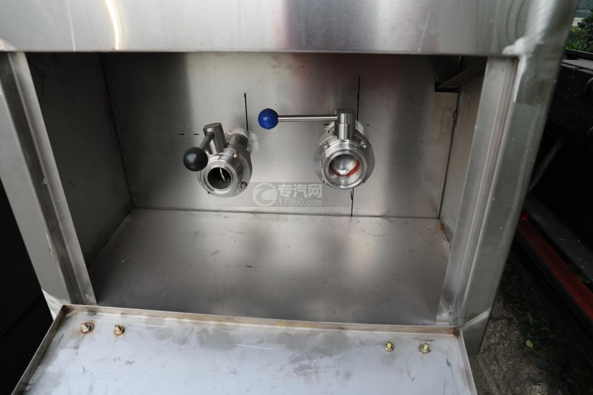 东风小多利卡国五3.39方鲜奶运输车自流球阀