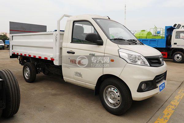 福田祥菱V1国六桶装垃圾运输车右前45度图