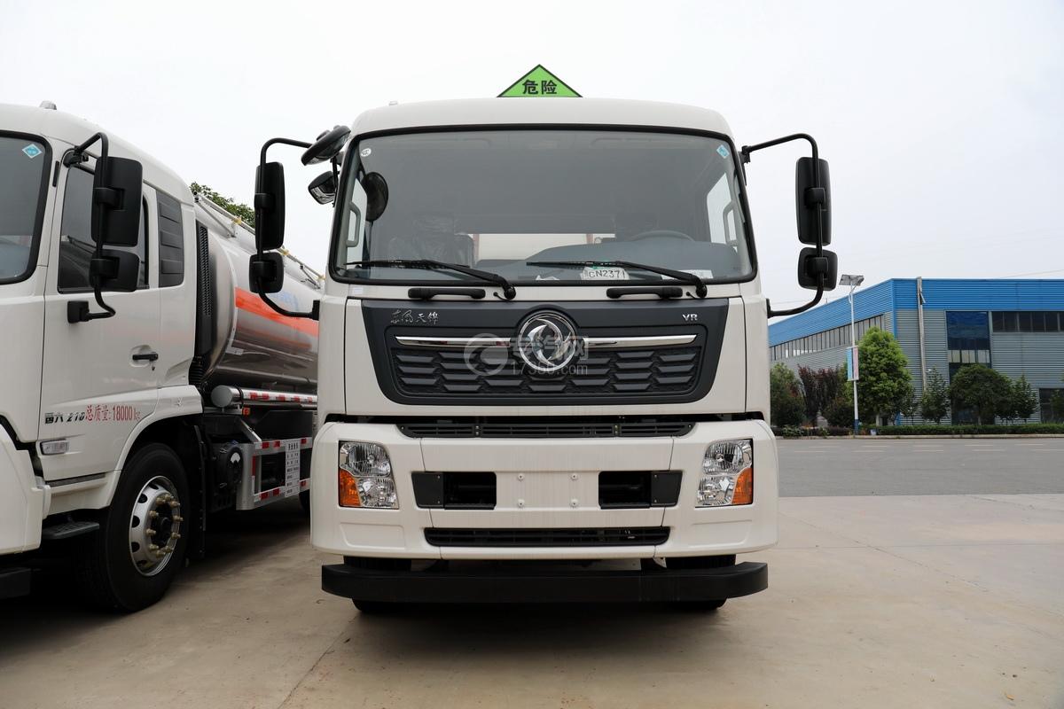 东风天锦VR单桥国六13.9方铝合金运油车正前方位图