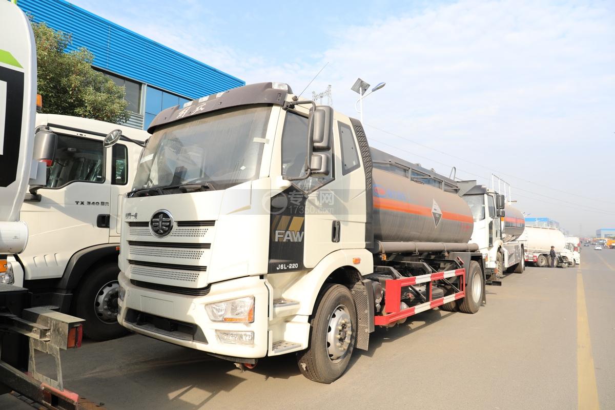 解放J6L国六6.6方腐蚀性物品罐式运输车