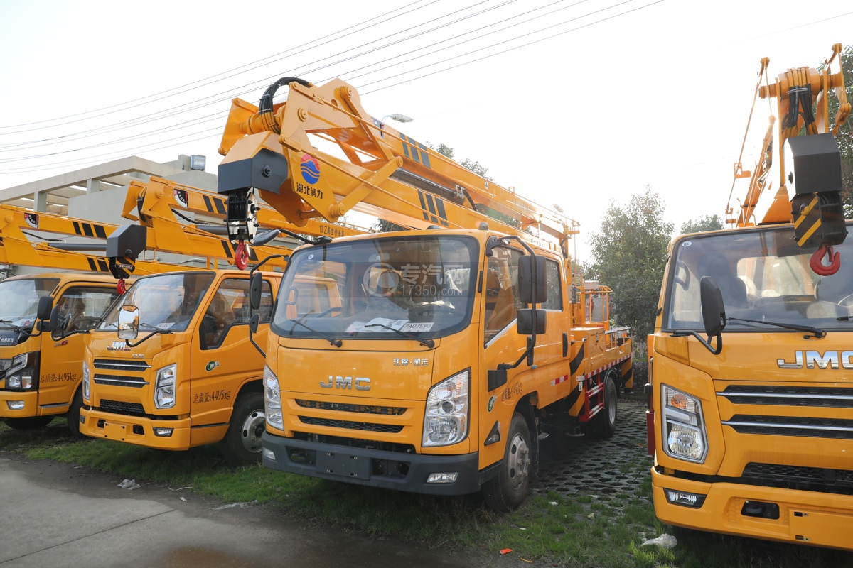 江鈴凱運雙排國六17.5米折疊臂式高空作業車