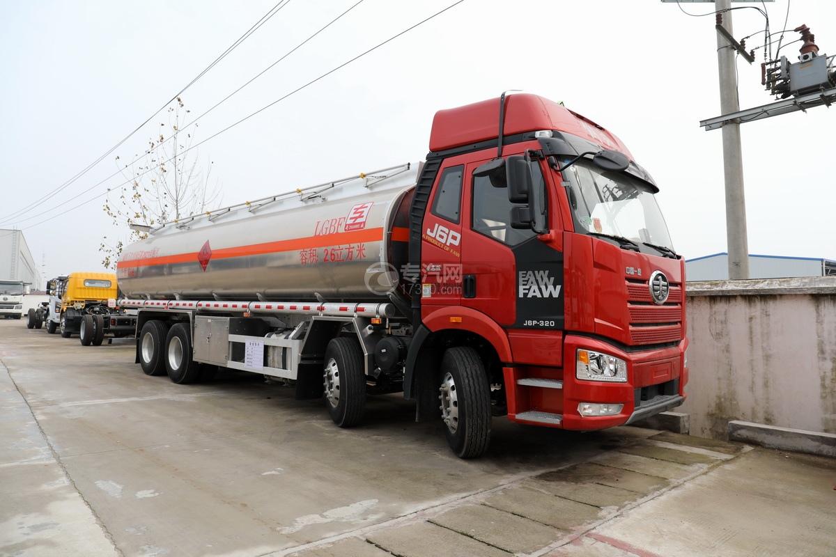 解放J6P前四后八國六26方鋁合金運油車圖片