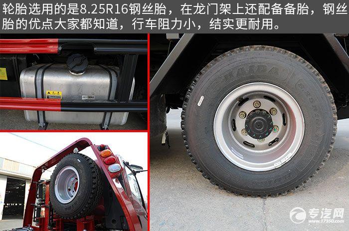 大运奥普力3550轴距一拖二蓝牌清障车评测轮胎、油箱
