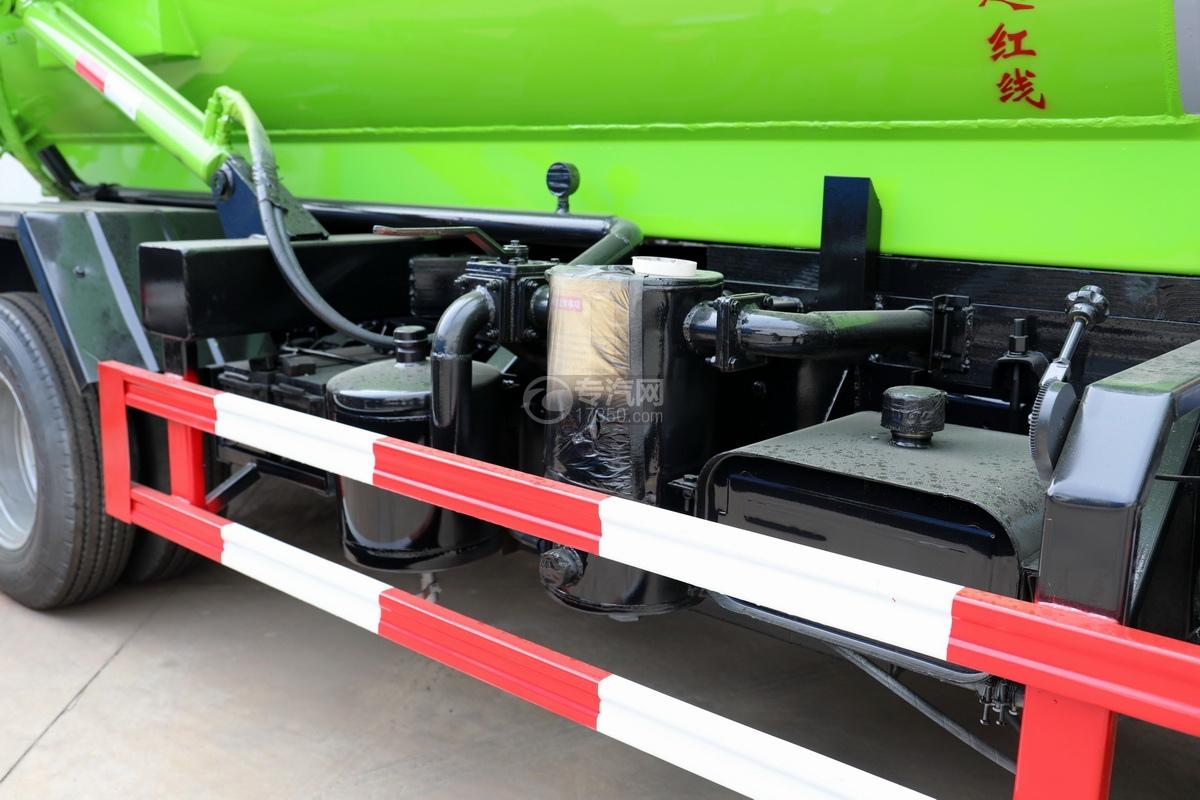 东风福瑞卡F6国六3.75方吸污车吸污系统