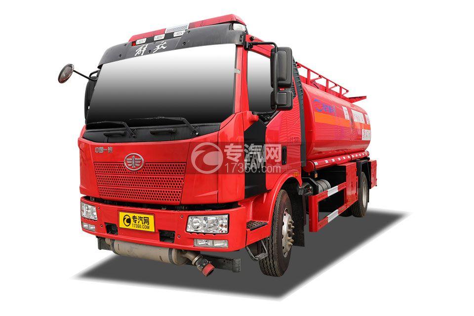 解放J6L單橋國五14.7方加油車(紅色)