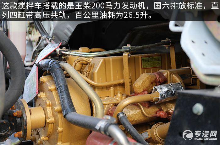东风福瑞卡F7国六3.98方搅拌车评测发动机