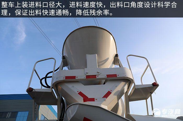 東風福瑞卡F7國六3.98方攪拌車評測進出料系統