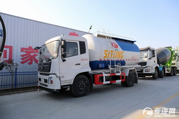 国六干混砂浆运输车,东风天锦的这款你一定感兴趣!