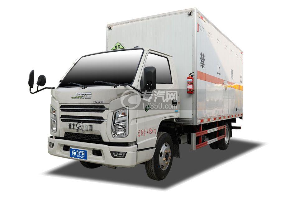 江铃顺达宽体国六4.08米腐蚀性物品厢式运输车