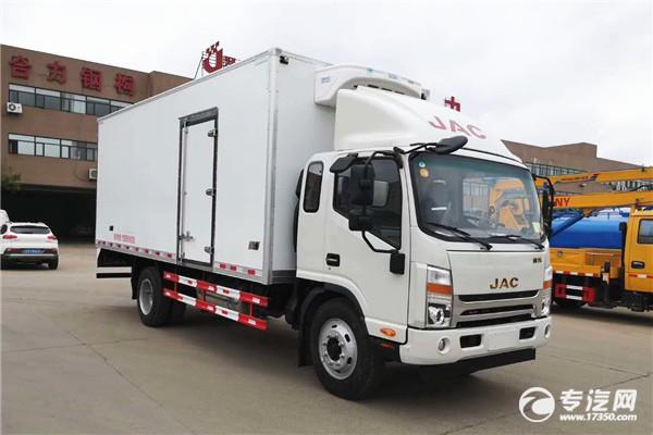 江淮帥鈴Q7排半國六5.2米冷藏車多少錢一輛