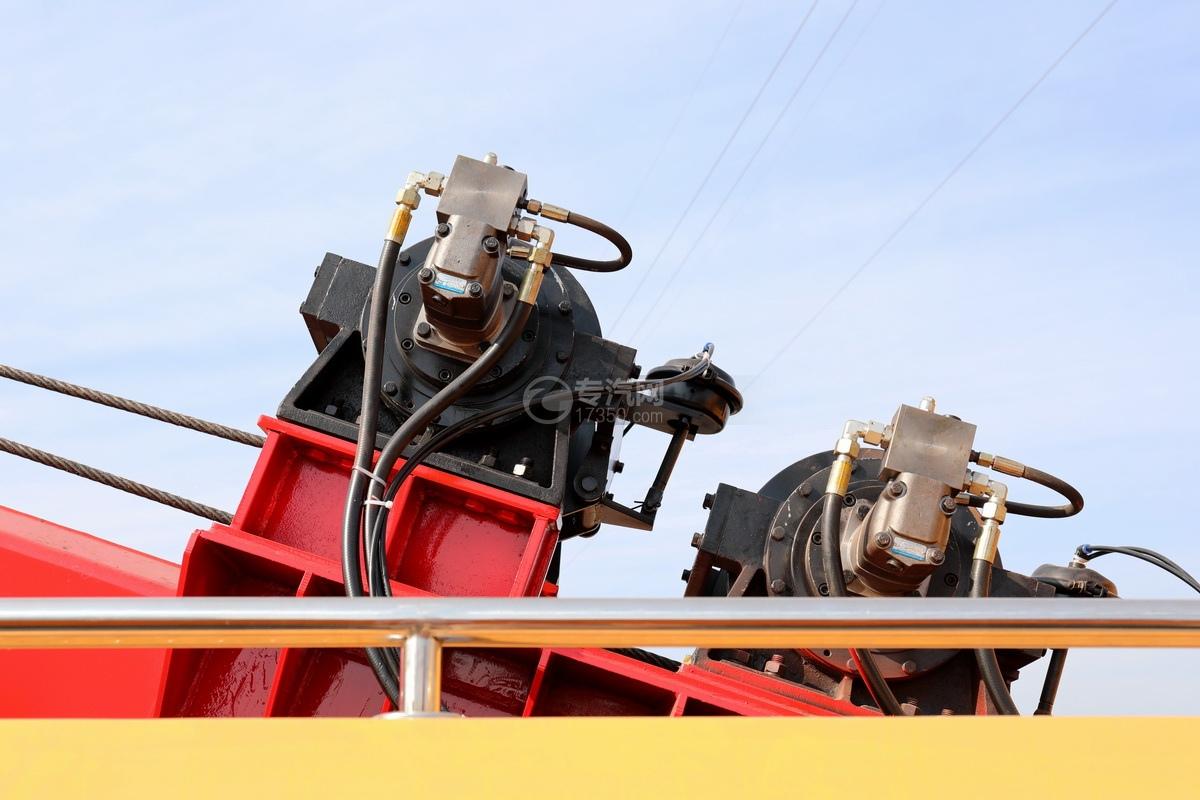 重汽豪沃TX350后雙橋國六拖吊聯體清障車液壓絞盤