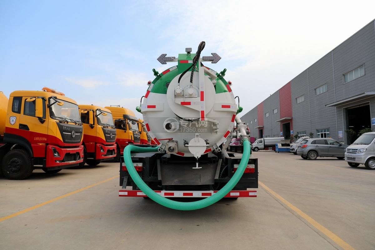 东风多利卡D7国六清洗吸污车正后图