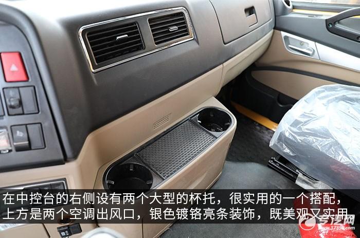 重汽豪瀚前四后八国六清洗吸污车评测驾驶室内部细节