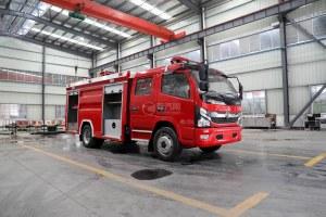 東風凱普特雙排國六水罐消防車圖片