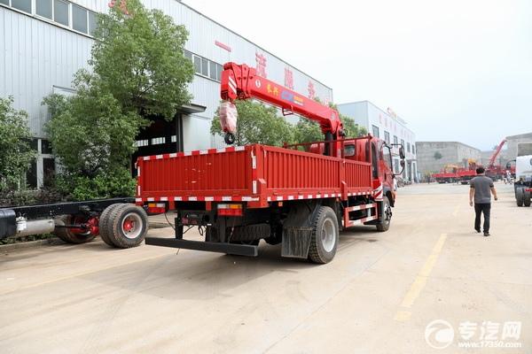 大運奧普力4100軸距國六6.3噸直臂隨車吊