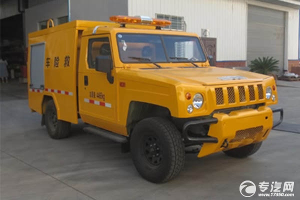 惡劣路況如何開展救險工作?這款勇士四驅越野國六救險車來幫忙