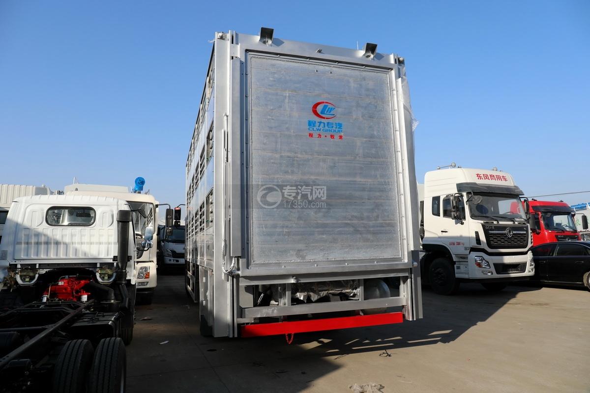 东风柳汽乘龙H5单桥国六铝合金畜禽运输车右后图