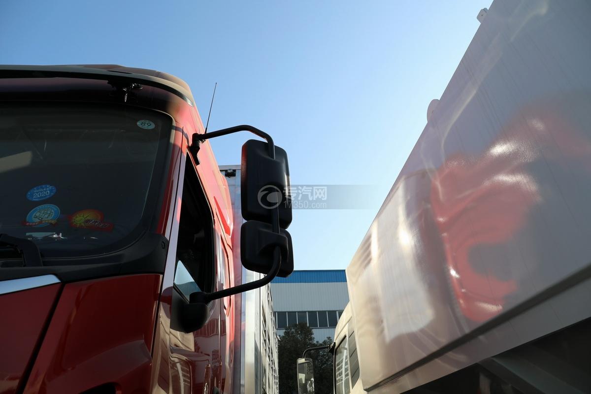 东风柳汽乘龙H5单桥国六铝合金畜禽运输车后视镜