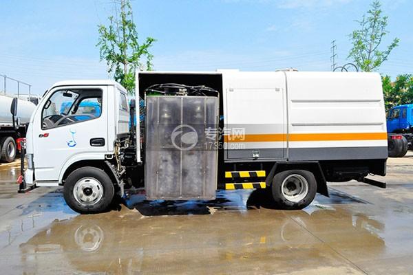 东风多利卡D6国六护栏清洗车左侧图