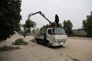 奧馳藍牌抓斗式垃圾車操作視頻