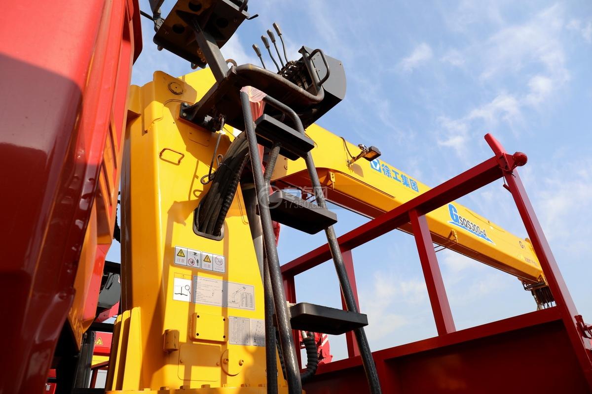 东风天龙前四后八国五徐工12吨直臂随车吊安全梯