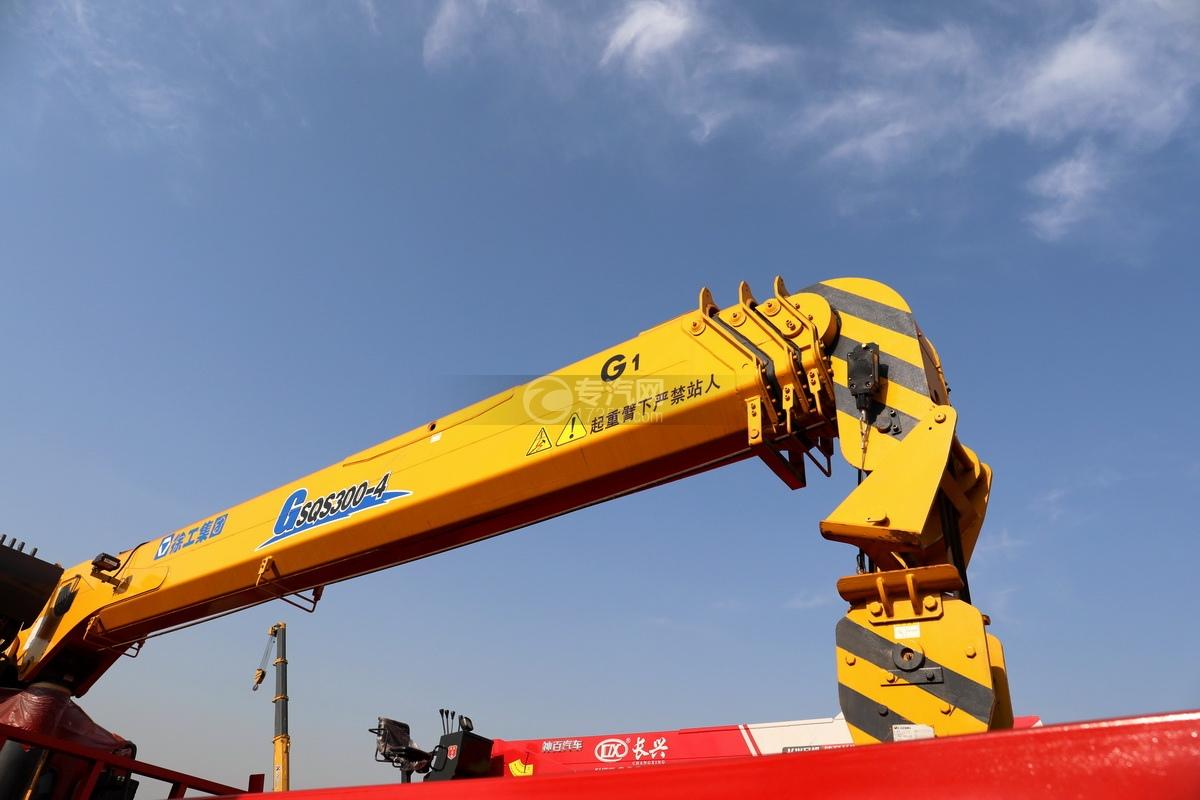 东风天龙前四后八国五徐工12吨直臂随车吊吊机细节