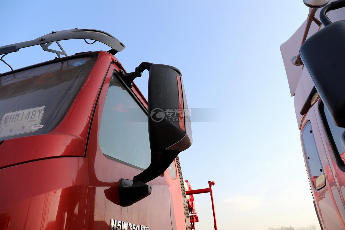 重汽豪瀚N5W前四后八国六长兴14吨直臂随车吊后视镜