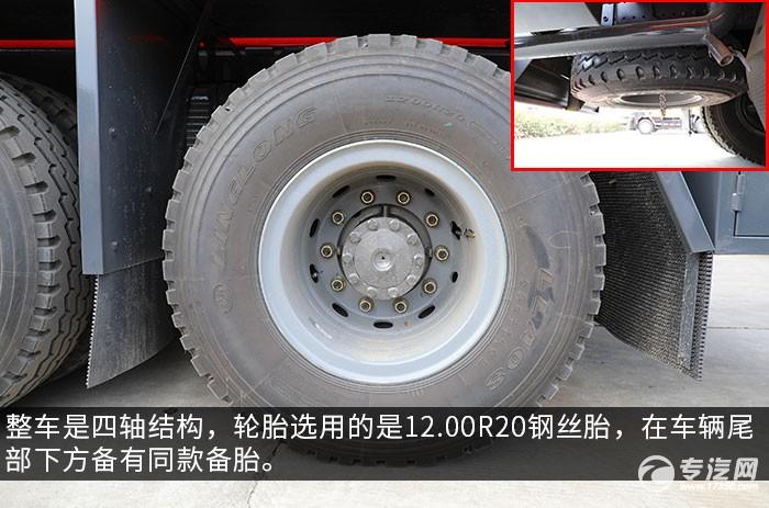 重汽豪瀚前四后八国六清洗吸污车评测轮胎