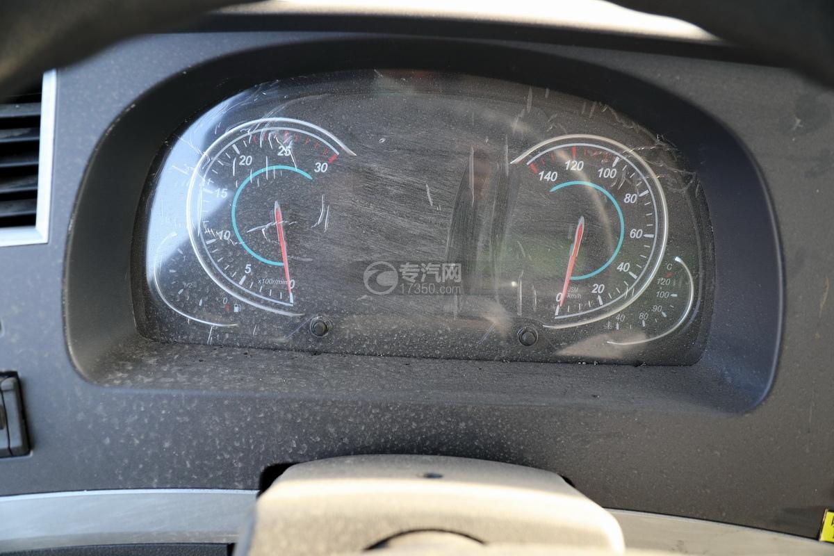 陕汽德龙新M3000后双桥国六16.79方清洗吸污车(绿色)仪表盘