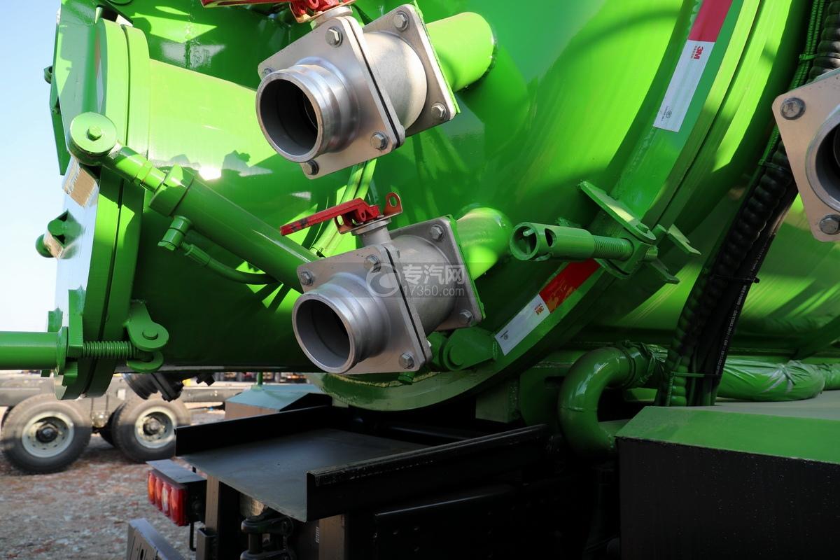 陕汽德龙新M3000后双桥国六16.79方清洗吸污车(绿色)细节