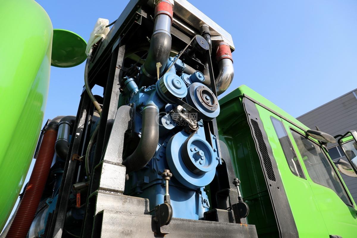 陕汽德龙新M3000后双桥国六16.79方清洗吸污车(绿色)副发动机