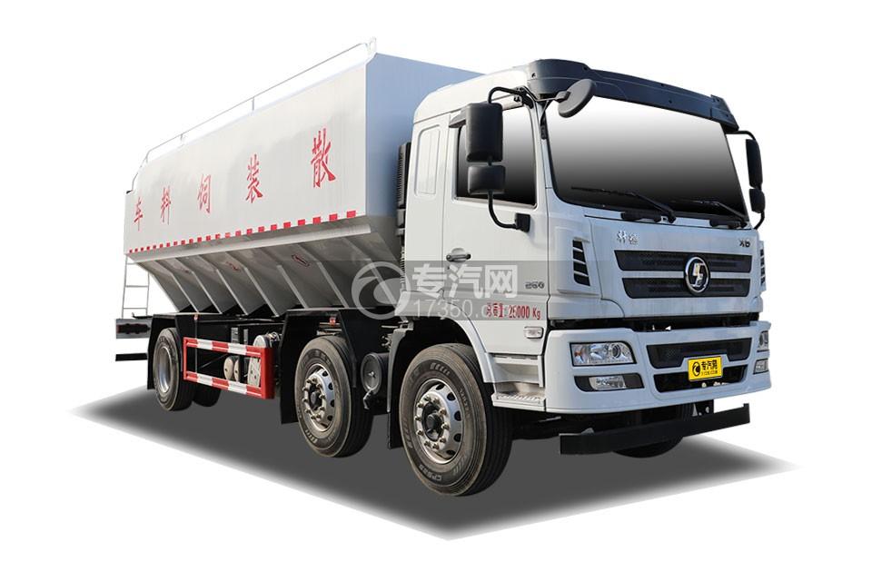 陜汽軒德X6小三軸國六散裝飼料運輸車
