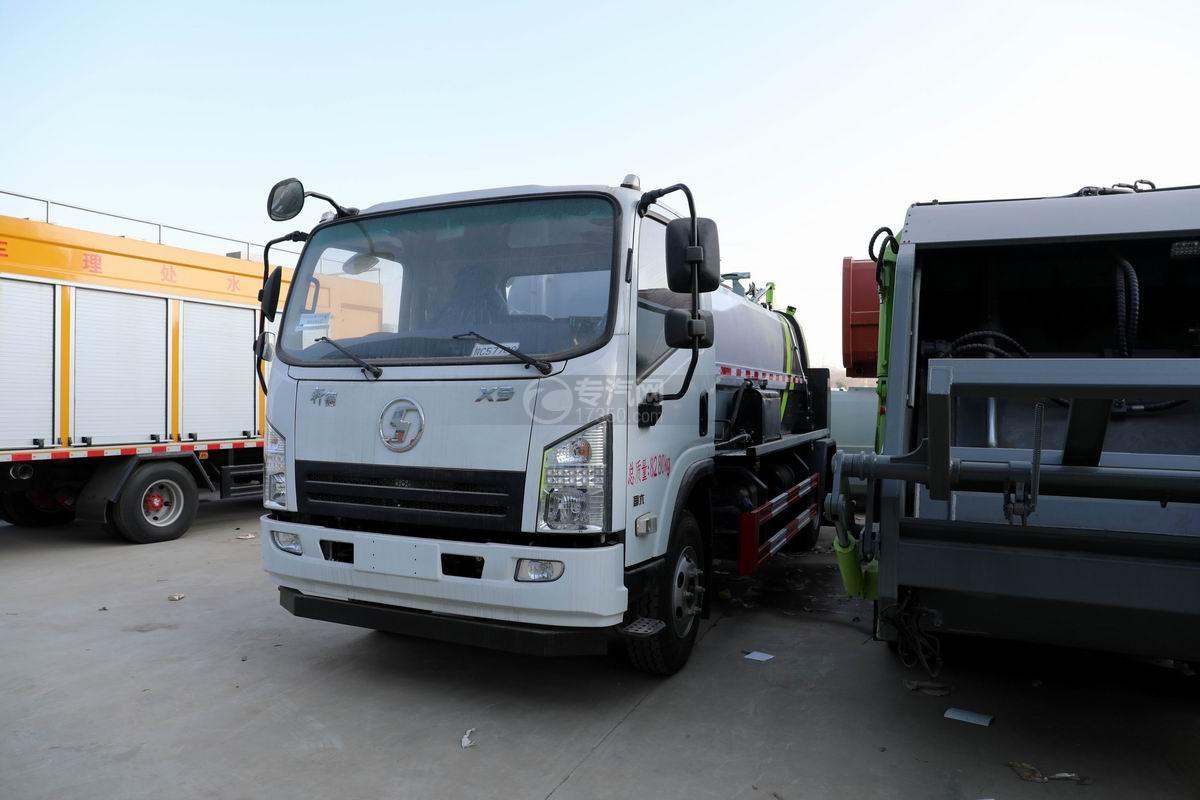 陕汽轩德X9国六餐厨式垃圾车左前45度图
