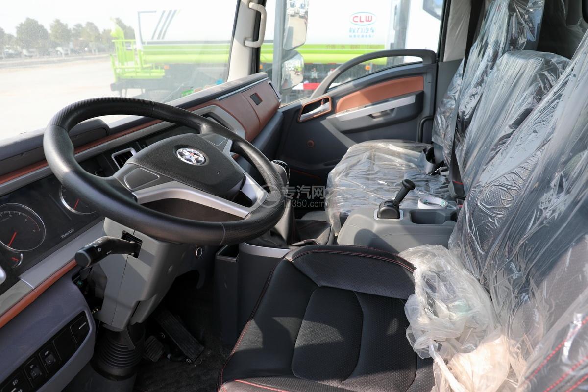 大运祥龙3900轴距国六一拖二清障车(白色)驾驶室