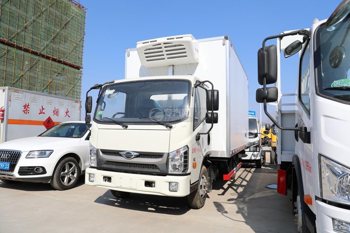 福田康瑞H2国六4米冷藏车左前图