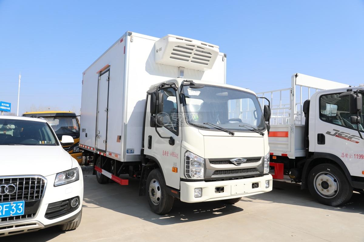 福田康瑞H2国六4米冷藏车右前图