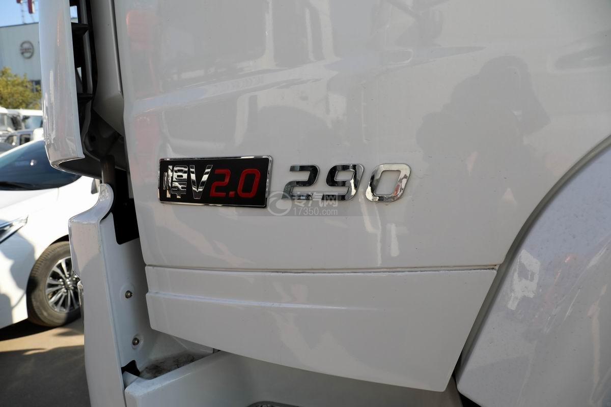 解放悍V2.0前四后六国五散装饲料运输车外观细节