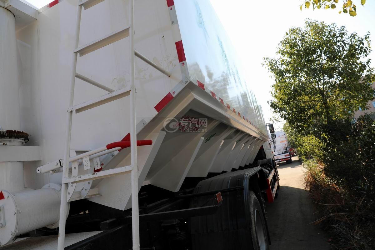 解放悍V2.0前四后六国五散装饲料运输车爬梯
