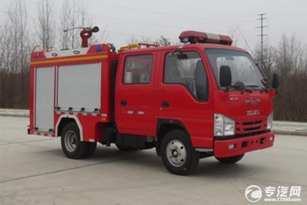 可上京牌的庆铃五十铃双排国六水罐消防车价格多少钱?