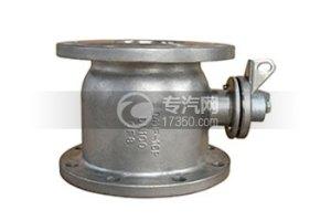 不銹鋼直通圓法蘭球閥/油車配件/危化品車輛配件