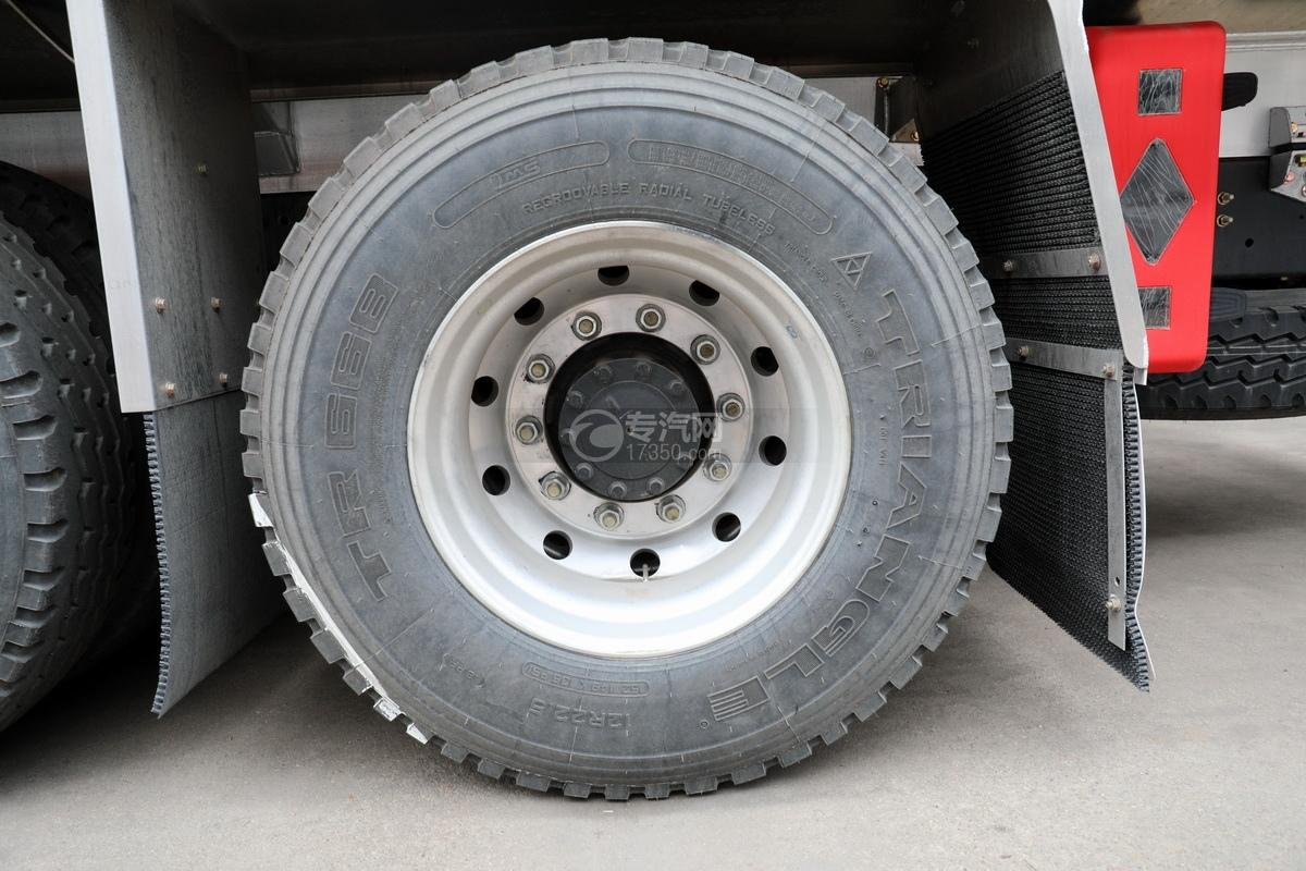 解放J6后雙橋國六25方鋁合金運油車輪胎