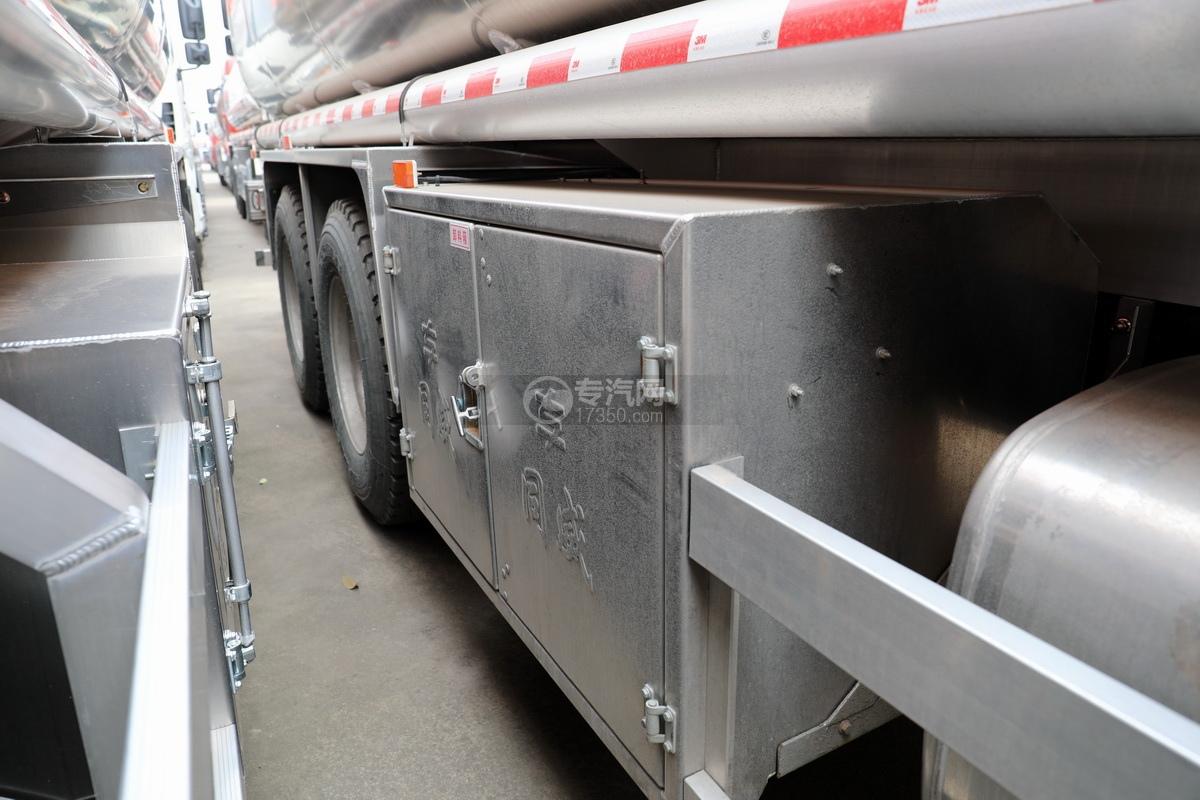 解放J6后雙橋國六25方鋁合金運油車卸料箱