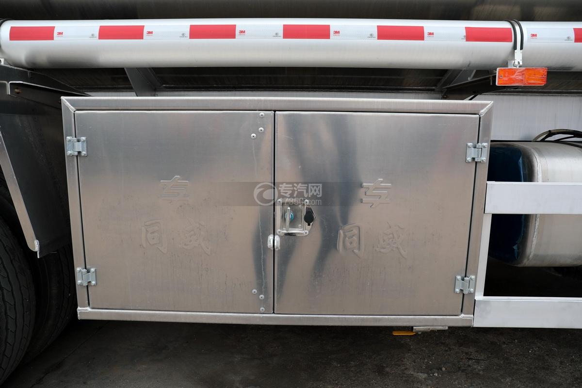 解放J6前四后八國五27方鋁合金運油車卸料箱