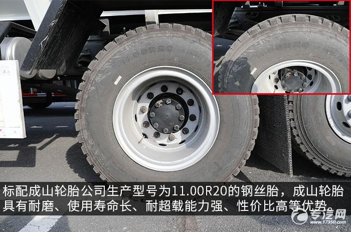 江淮格爾發K5后雙橋國六散裝飼料運輸車評測輪胎