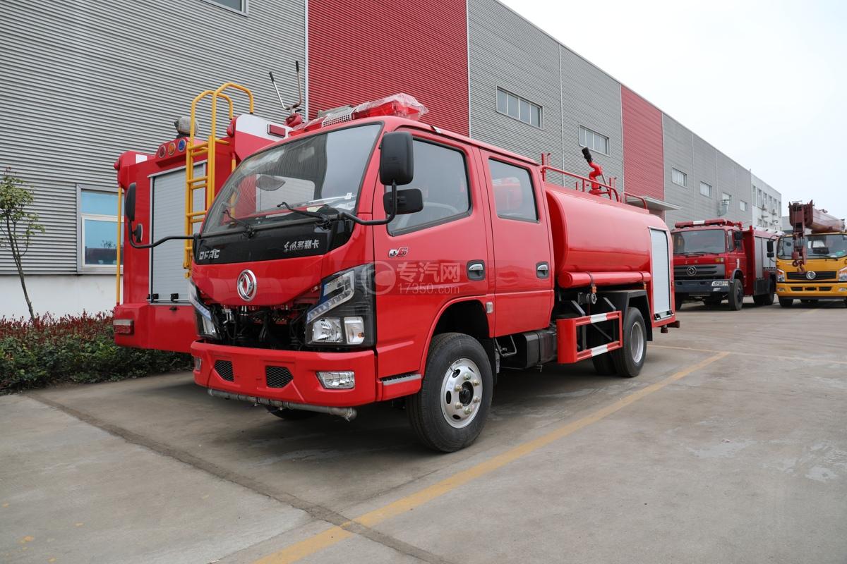 东风多利卡D6双排国六3.7方消防洒水车图片
