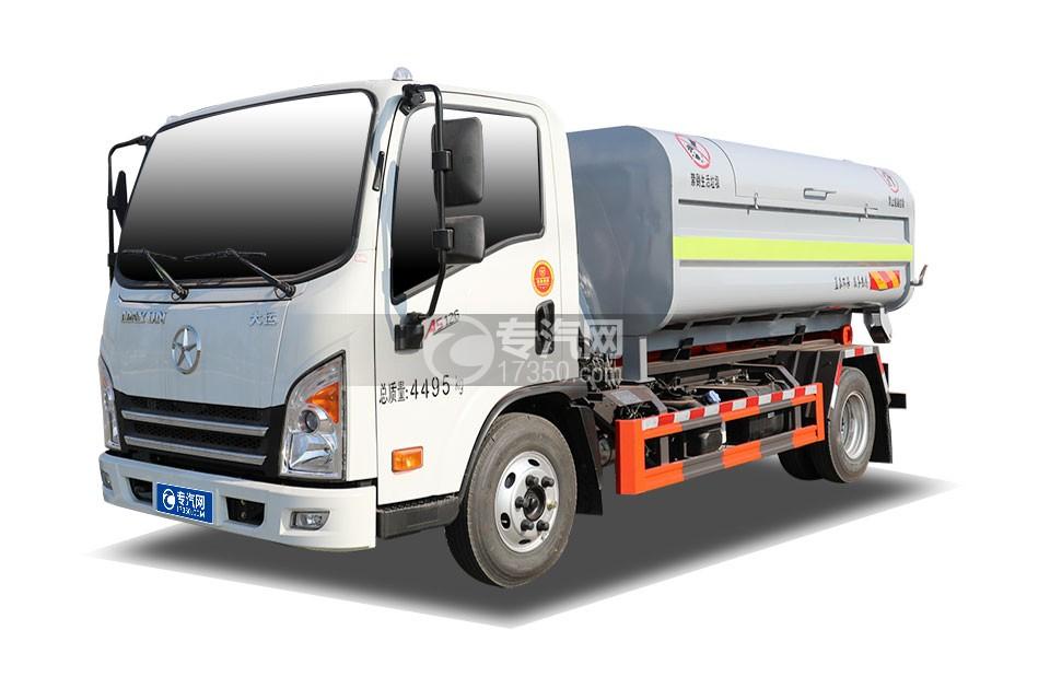 大運奧普力3300軸距國六車廂可卸式垃圾車