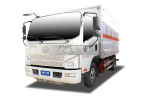 解放J6F国六4.05米易燃气体厢式运输车