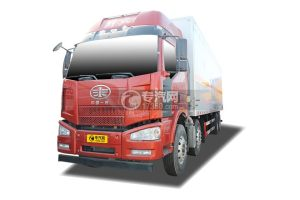 解放J6前四后八国五9.3米易燃固体厢式运输车