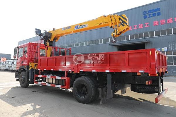 東風華神T5單橋國五8噸直臂隨車吊左后圖