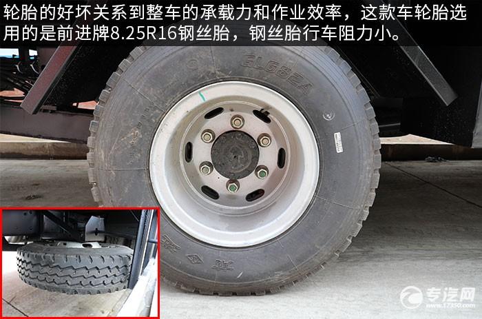 大運新奧普力國六一拖二清障車評測輪胎